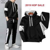 Casual tracksuit Set Men Fashion 2020 Jogger Sports Sportswear Suits Spring Autumn Two Pieces Hoodies Pants Set Male Sweat Suit