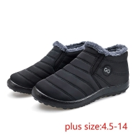 Women snow boots 2020 new waterproof winter boots women shoes solid casual shoes woman keep warm plush winter shoes women boots