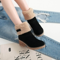 Women Winter Fur Warm Snow Boots Ladies Warm wool booties Ankle Boot Comfortable Shoes plus size 35-43 Women