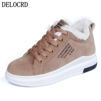 Women's shoes Winter Women Shoes Warm Fur Plush Lady Casual Shoes Lace Up Fashion Sneakers Zapatillas Mujer Platform Snow Boots