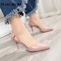 2019 HOT sale fashion Women Shoes Pointed Toe Pumps PU Leather Dress High Heels Shoes Wedding Shoes women Zapatos Mujer **459