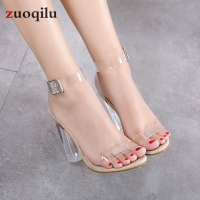 transparent pvc Jelly sandals Open Toed high heels pumps women shoes ladies party shoes heels wedding shoes talon femme