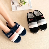 2020 Winter couples cotton slippers handbag with indoor warm autumn antiskid lovely  home  Mixed Color shoes man and woman