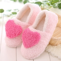 Lovely Ladies Home Floor Soft Women indoor Slippers Outsole Cotton-Padded Shoes Female Cashmere Warm Casual Shoes slippers L*5