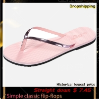 SAGACE 2020 Summer ladies non-slip slippers flat casual beach slippers with flip-flops fashion wear rubber bottom beach shoes