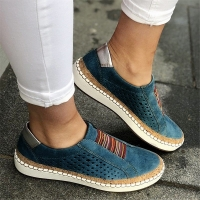2019 Leather Loafers Shoes Women Slip-On Sneaker Casual Comfortable Lady Loafers Women's Flats Tenis Feminino Zapatos De Mujer