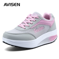 2019 Fashion Women Sneakers Platforms Woman Spring/Summer Mesh Casual Shoes Mesh Increased Soft Bottom Sports Shoes