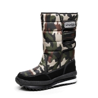 Men Boots Casual Winter Snow Boots For Men Shoes Plush Waterproof Slip-resistant Military Winter Shoes Brand Plus Size 34 - 47