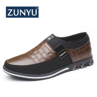 ZUNYU 2019 New Big Size 38-48 Oxfords Leather Men Shoes Fashion Casual Slip On Formal Business Wedding Dress Shoes Drop Shipping