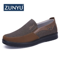 ZUNYU New Canvas Loafers Shoes Slip on Men Casual Shoes Summer New 2019 Breathable Fashion Soft Flat Driving Shoes Size 38-50