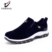 VESONAL 2019 Spring Summer Slip-On Out door Loafers Sneakers For Men Shoes Breathable Suede Male Footwear Walking comfortable