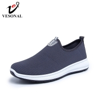 VESONAL Summer Slip On Lightweight Mesh Loafers Man Shoes Casual Breathable Comfortable Walking Male Sneakers Men Shoes Footwear