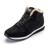 Shoes Men Sneakers Casual Shoes Basket Homme Lace Up Warm Fur Winter Trainers Sneakers Male Shoes Mans Footwear Plus Size 35-47