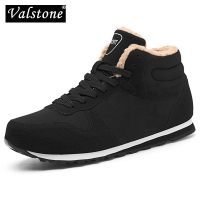 Valstone XL size 37-47 Winter Men's Snow boots warm ankle Sneaker Plush lining winter shoes Comfortable anti-skid Outsole unisex
