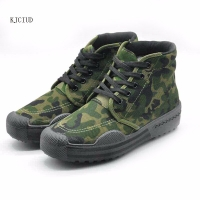 Men's Outdoor Tactical Sports Shoes Military Training Camouflage Men's Shoes Site Laborers Slip Wear Canvas Shoes 35-45 Yards
