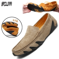 2020 New Brand Quality Men Loafers Leather Breathable Men's Casual Shoes Men Driving Oxfords Shoe Flats Moccasins Shoes