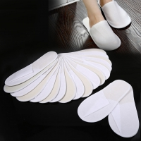 10 Pairs Hotel Travel Spa Disposable Slippers Party Sanitary Home Guest Use Fluffy Closed Toe Men Women Disposable Slippers