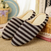 New Year Men Shoes Home Warming Soft Slippers for Winter Coral Velvet & TPR Slippers