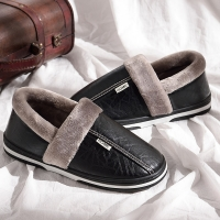 Winter house slippers men plush Indoor slippers waterproof plus size 11.5-15 anti dirty warm slippers home non-slip