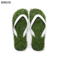 Lawn Flip-flops For Men Women 2019 Summer Fashion Simulation Personality Grass Slippers Couple Models Outdoor Beach Shoes Me